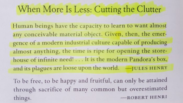 More is less, cutting the clutter